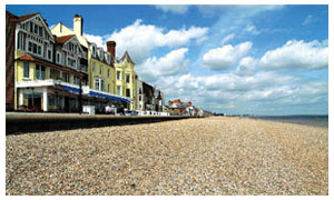 The seafront of Aldeburgh