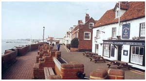 The ship Inn on the riverfront,  Burnham on Crouch