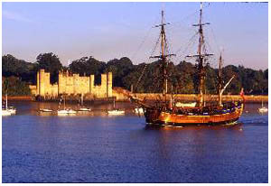 Upnor Castle with Endeavour in the Foreground